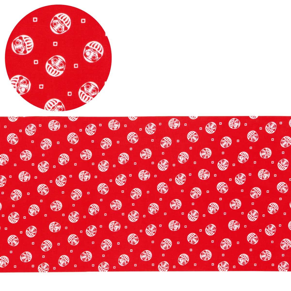 縁起小紋手拭(達磨) 専用紙巻