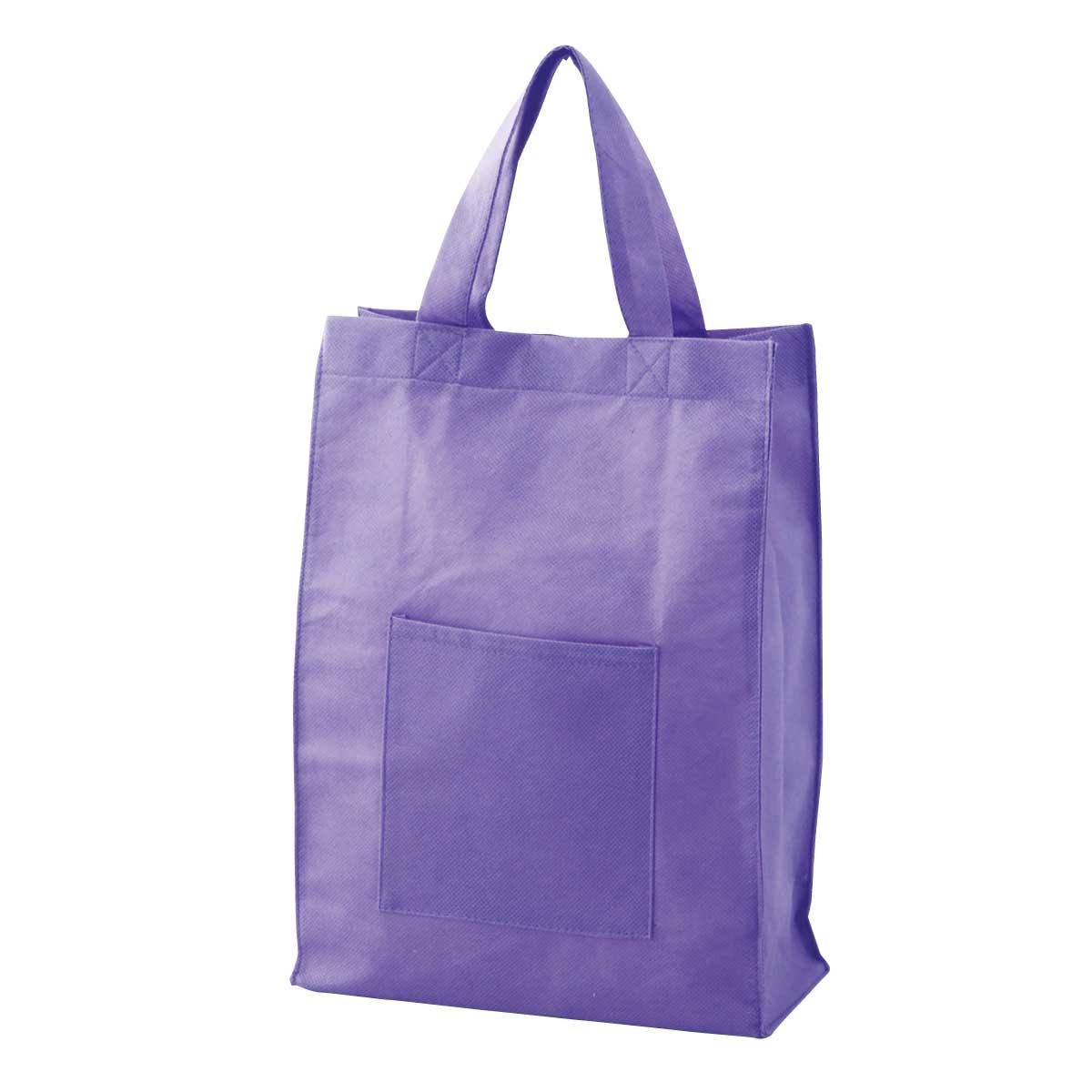 不織布手提げバッグ(紫)