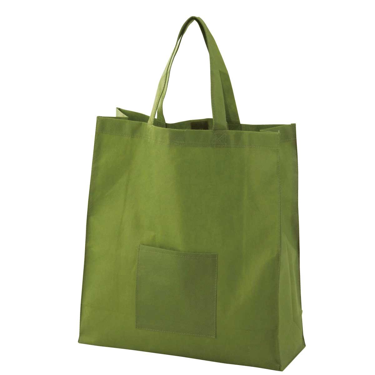 不織布手提げバッグ(緑)