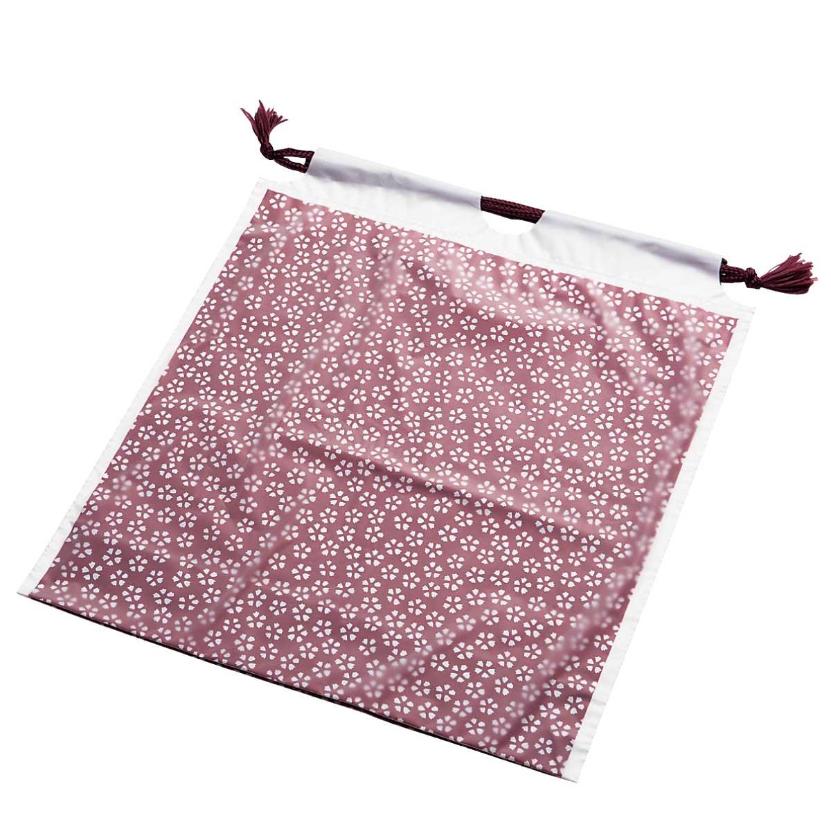 和風巾着小桜柄