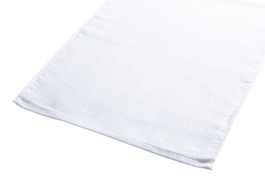 片フラット片パイル白タオル