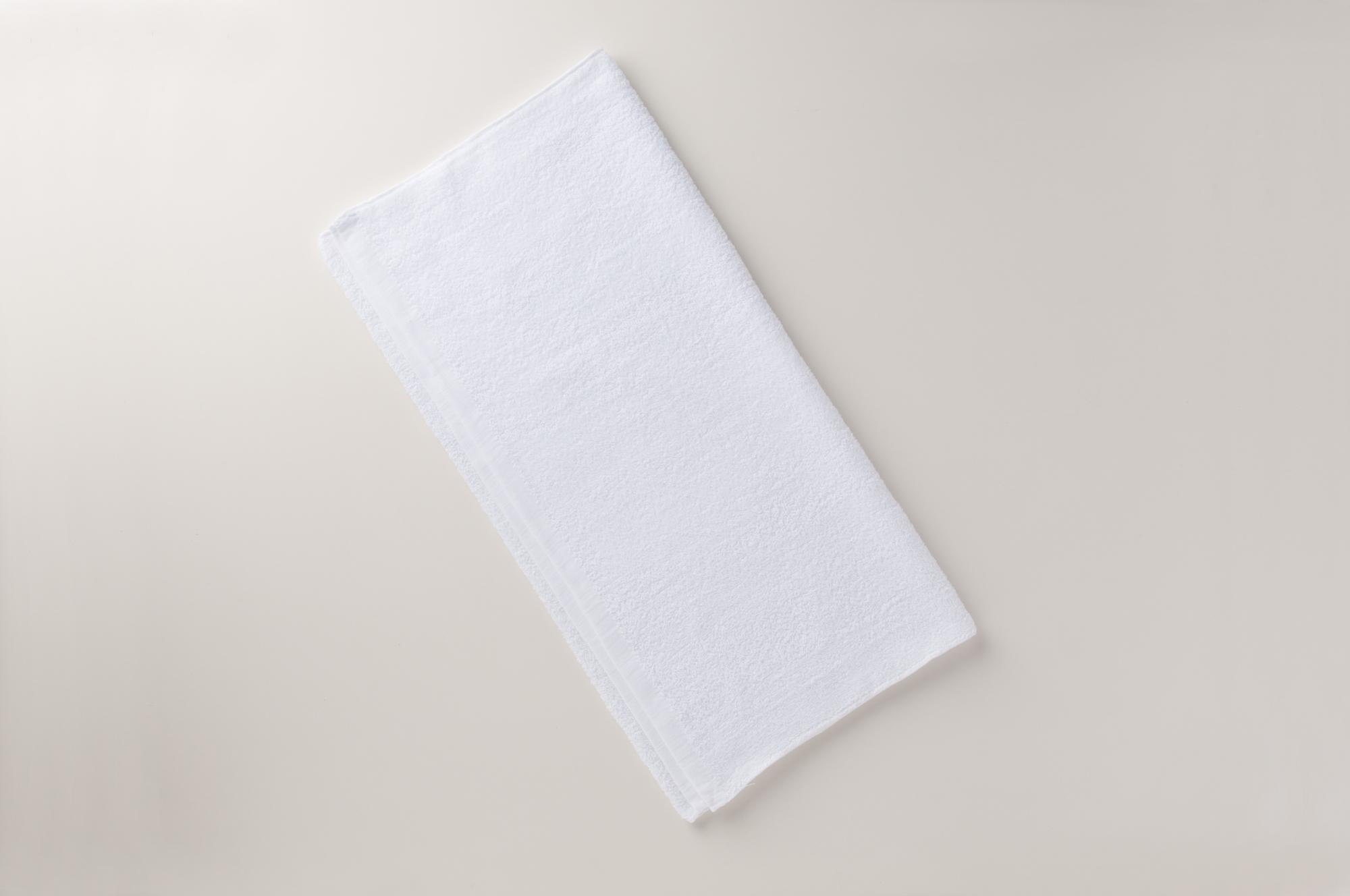 中国製600匁白バスタオル
